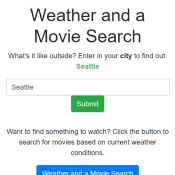 Weather and a Movie preview tile